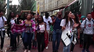 Colombia students stage nationwide protest to demand more budget for higher education - Video