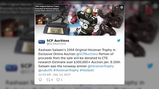 Rashaan Salaam's Heisman Trophy Will Be Auctioned Off