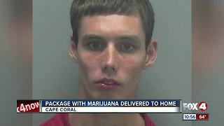 Package with Marijuana Delivered to Cape Coral Home - Video