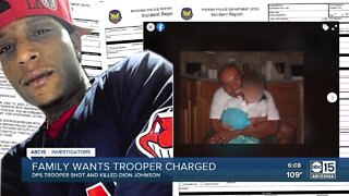 The family of Dion Johnson wants trooper charged
