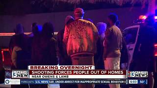 East Las Vegas shooting forces people out of homes - Video