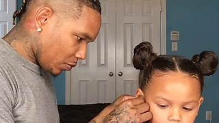 When your dad does your hair  :) - Video