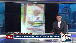 Vendor banned from Ducktail Run car show over racist signs - Video