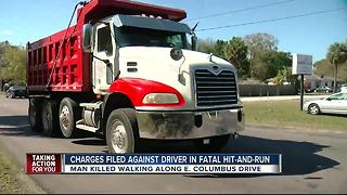 Dump truck driver in hit and run arrested and charged - Video