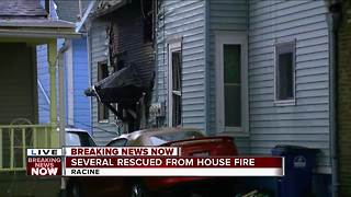 Several rescued after explosion, fire at Racine residence - Video