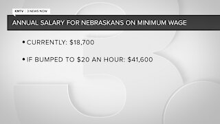 Legislative bill would raise minimum wage in Nebraska to $20 an hour