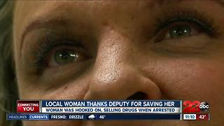 Saved from addiction, local woman thanks deputy for saving her - Video
