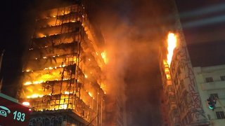 At Least 1 Dead After Massive Fire Engulfs High-Rise In Brazil - Video