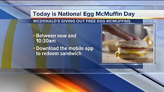 McDonald's offering free Egg McMuffins today