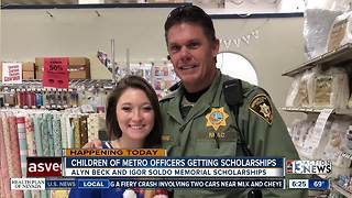 10 police officer children receiving scholarships - Video