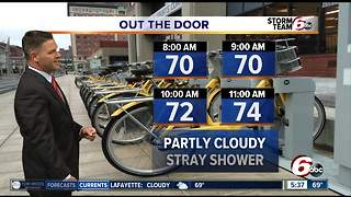 Heavy storms out of area, seasonable temps today - Video