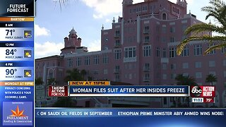 Woman files suit after her insides freeze
