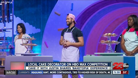"Local cake decorator ""Cake It with Justin"" appears on HBO Max's 'Baketopia'"