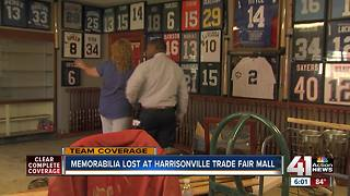 Flooding damages items, sports memorabilia at Harrisonville Trade Fair Mall - Video