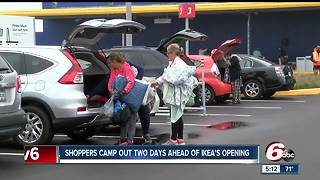 Fishers IKEA opening attracts hundreds of campers - Video