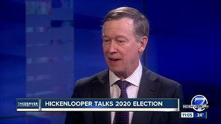 John Hickenlooper discusses 2020 presidential announcement with Denver7