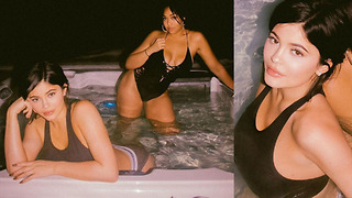 Kylie Jenner Shows Off Post Baby Body In STEAMY Hot Tub Pics - Video