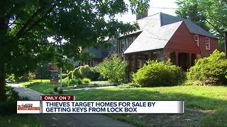 Only On 7: Homes for sale in Michigan with lock boxes vulnerable to intruders - Video