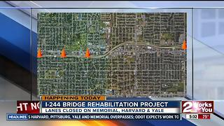 Traffic delays expected due to I-244 bridge rehabilitation project - Video