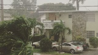 Winds, Rain Seen Brewing Up in Miami as Outer Bands of Irma Appear - Video