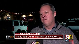 Firefighters and police rally around Colerain officer
