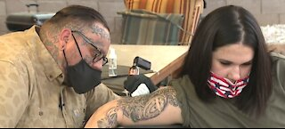 Las Vegas mass shooting survivor gets special, permanent symbol to help heal emotional wounds