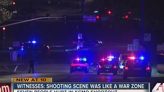 Witness: shooting scene was like a warzone - Video