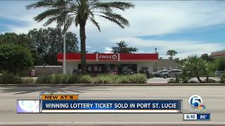 Winning lottery ticket sold in Port St. Lucie
