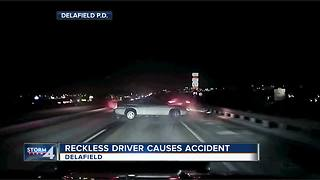 Delafield Police: Crash video reminds drivers to slow down - Video