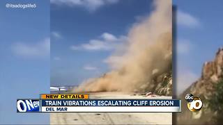 Train vibrations escalating cliff erosion - Video
