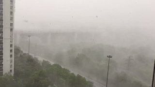 Severe Storm Causes Near White-Out Conditions in Toronto - Video