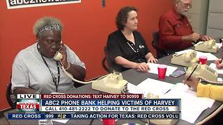 ABC2 Phone Bank helping victim of Hurricane Harvey