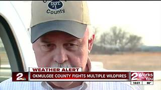 Wildfire south of Beggs believed to have been set intentionally - Video