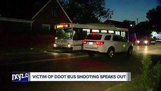 Victim of DDOT bus Shooting speaks out - Video