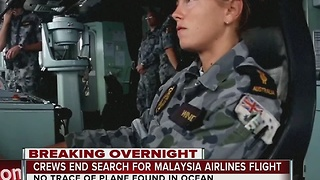 Crews end search for Malaysia Airlines flight - Video