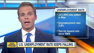 Jobs report: Unemployment reaches lowest point in 50 years - Video