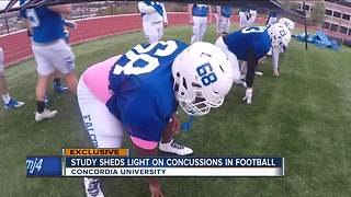 Study sheds light on football concussions - Video