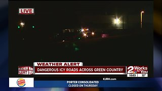 Dangerous road conditions - Video