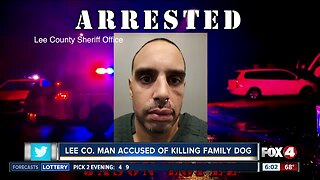 Lee County man accused of killing family dog