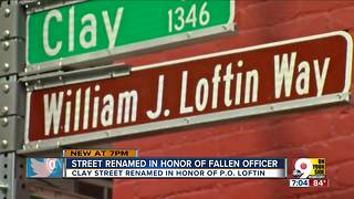 Street renamed in honor of fallen officer - Video