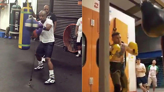 New Mayweather vs McGregor Workout Videos Show Conor Might Not Stand a Chance! - Video