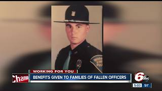 Families of fallen officers get benefits from the state, but is it enough? - Video
