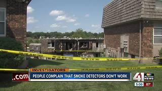 Tenants question fire alarms after Overland Park fire - Video
