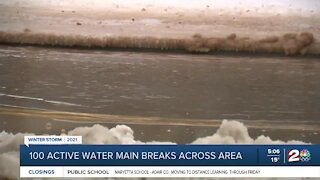 Crews repairing record number waterline breaks