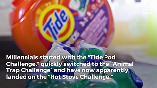 Millennials Start New Hot Stove Challenge to Upstage Tide Pods - Video
