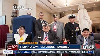 Filipino WWII Veterans receive Congressional Gold Medal - Video
