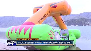 Local business owner helps develop rescue raft