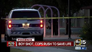 Cops rush to save a young boy shot in the leg in Phoenix - Video