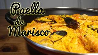 Receta de paella de marisco - Video