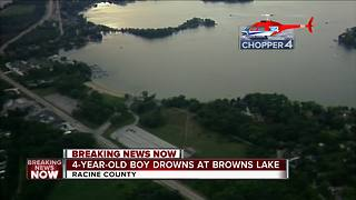 Four-year-old drowns in Racine County Lake - Video